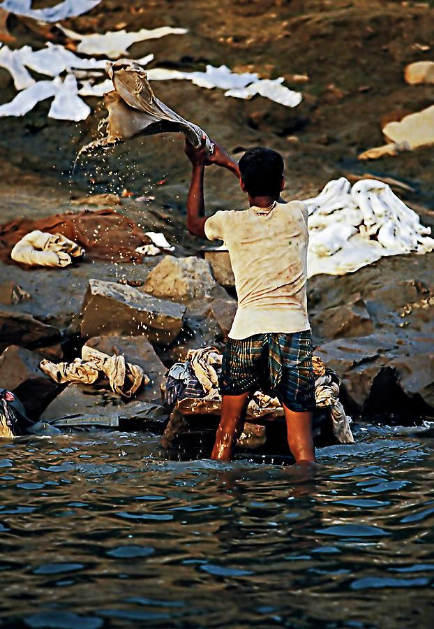 Dhobi Photograph - Dhobi Wallah by Steve Harrington