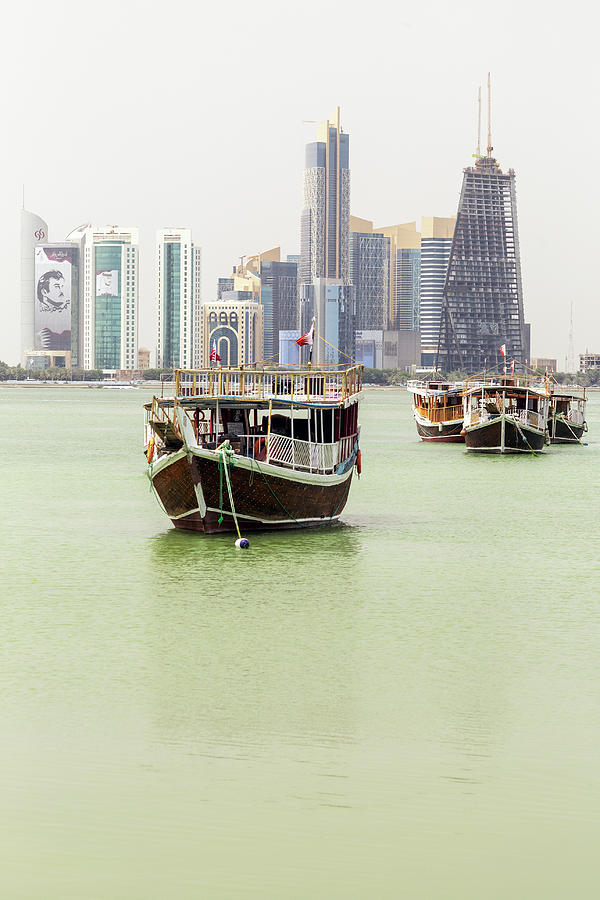 Dhows towers and the Emir vertical by Paul Cowan