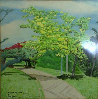 Di Pinggir Sg Kinta Painting by Jamil zamri T k zamri