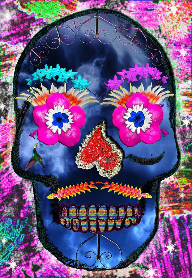 Skull Mixed Media - Dia De Los Muertos by Dolly Sanchez
