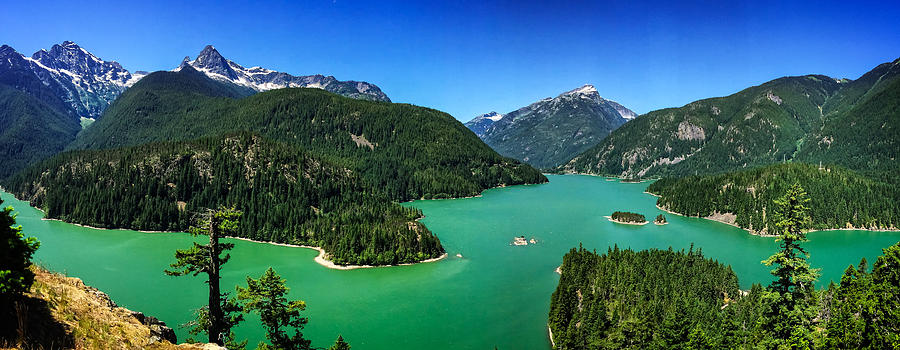 Diablo Lake Overlook Panorama by Dave Files