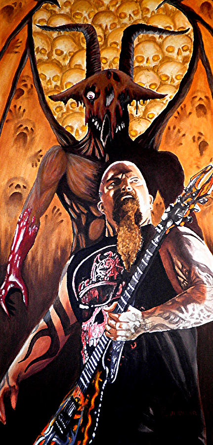 Kerry King Painting - Diabolus In Musica  by Al  Molina