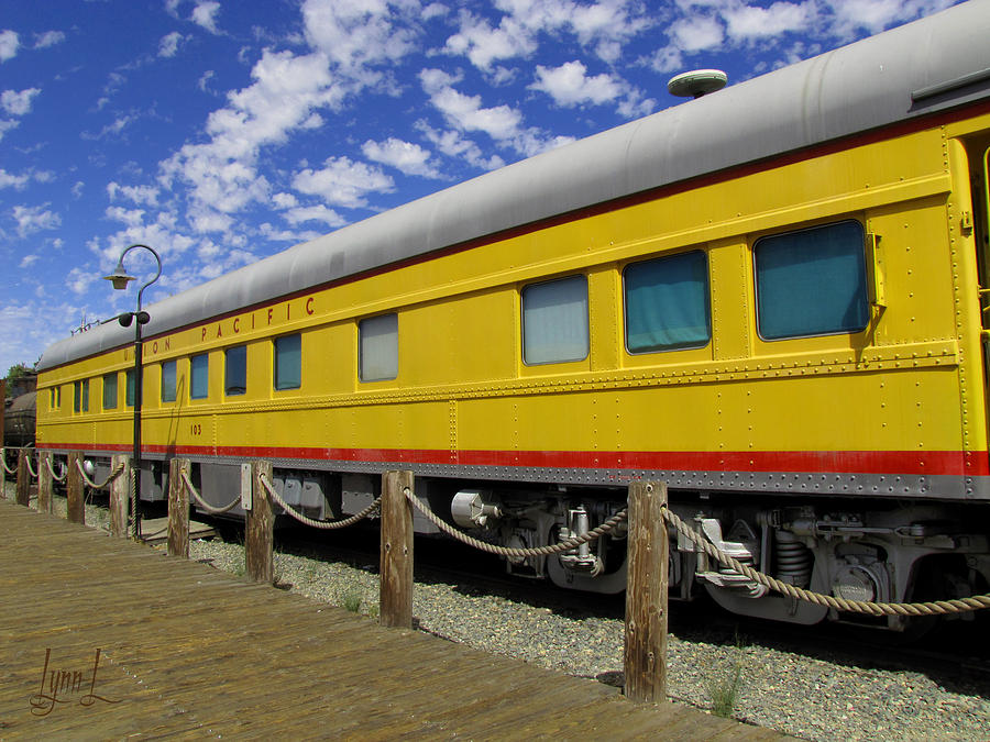 Union Pacific Photograph - Diagonal On The Rails by S Lynn Lehman