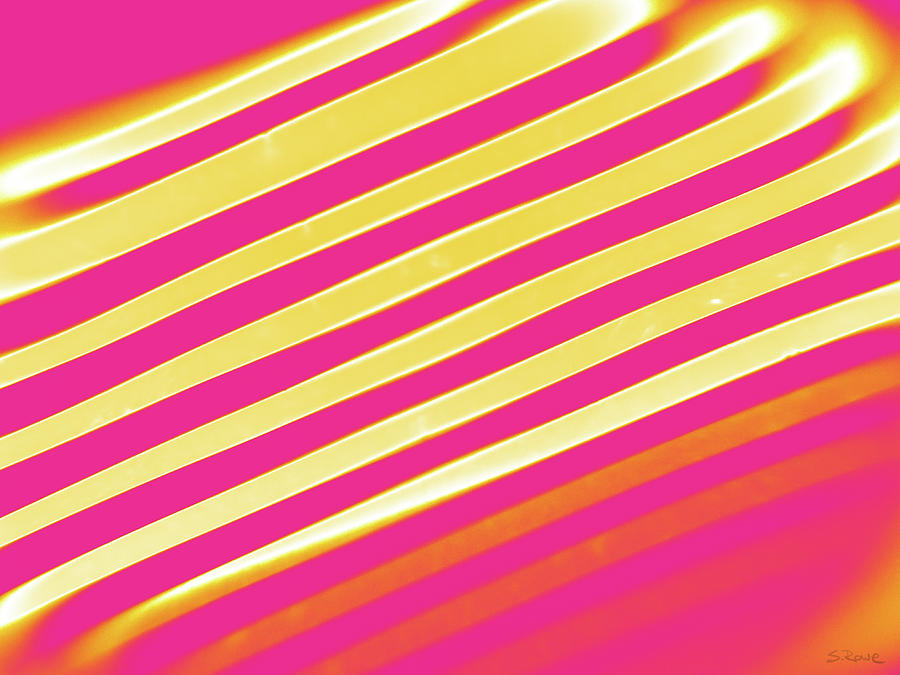 Diagonal Reflection - Hot Pink by Shawna Rowe