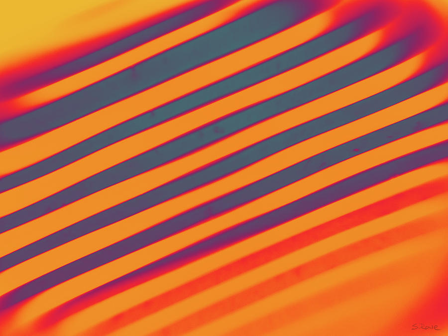 Diagonal Reflection - Orange by Shawna Rowe