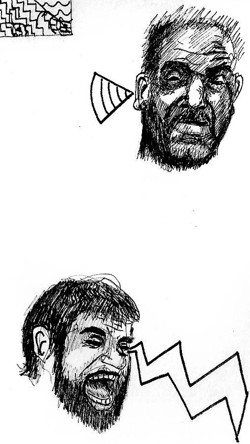 Drawing Drawing - Dialogue by John  Stidham