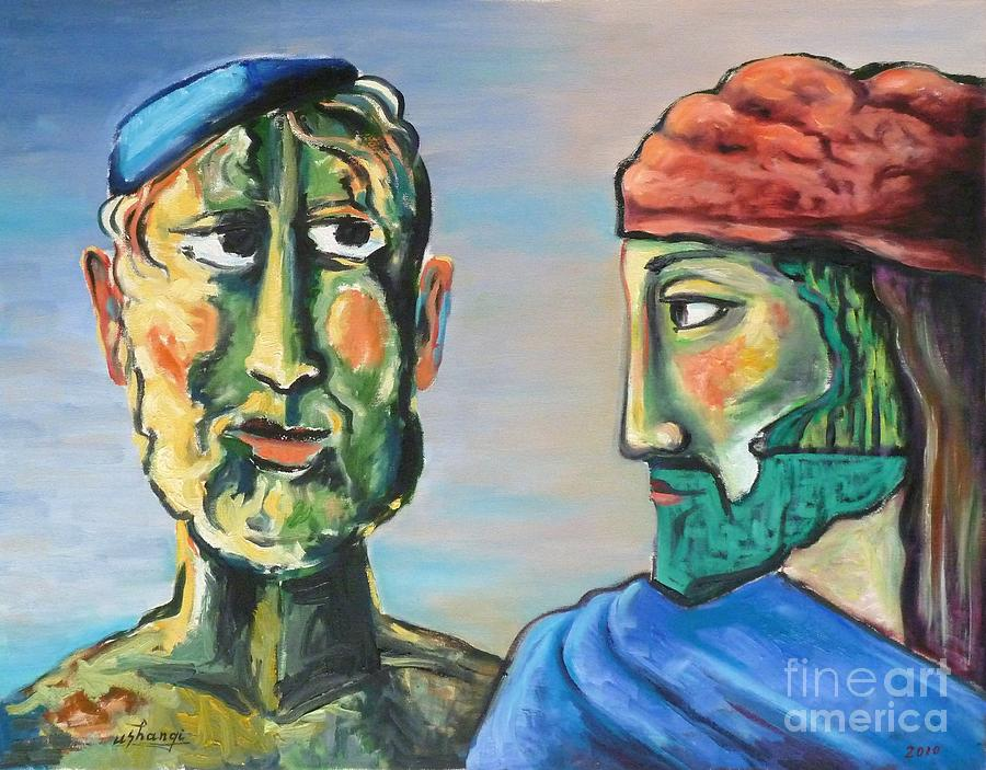 Dialogue Painting - Dialogue by Ushangi Kumelashvili