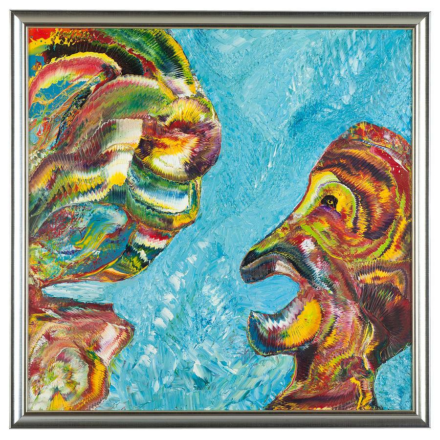Painting - Dialogul Surzilor by Alessandriu Bogdan