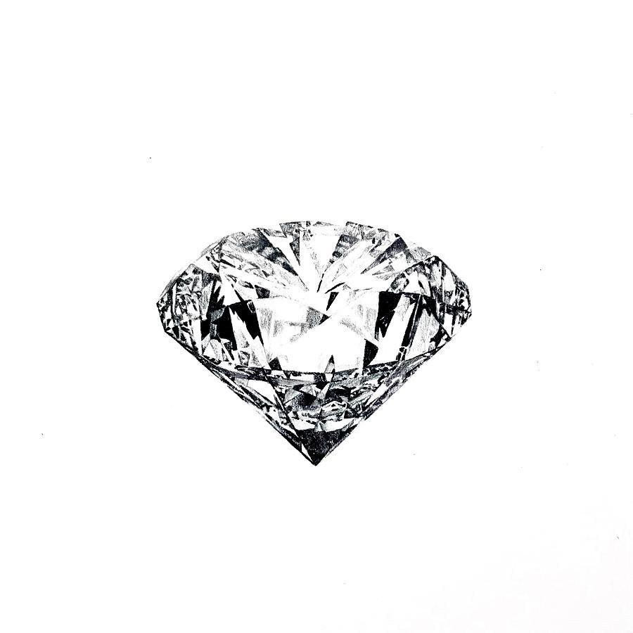 Diamond Drawing - Surrealistic Diamond Drawing by Ben Osborn