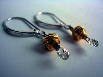 Diamond Briolette Platinum Earrings Jewelry by Mia Katrin