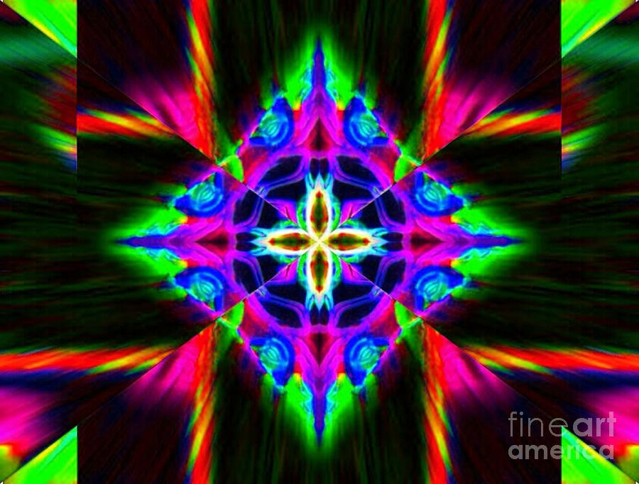 Abstract Digital Art - Diamond Dews by Lorles Lifestyles