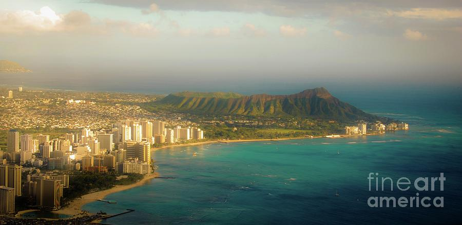 Diamond Photograph - Diamond Head Crater - Waikiki Afternoon by D Davila