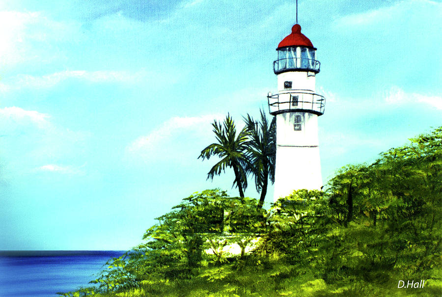 Diamond Head Lighthouse Painting - Diamond Head Lighthouse #10 by Donald k Hall