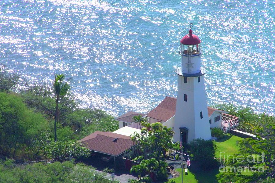 Lighthouse Photograph - Diamond Head Lighthouse by Mary Deal