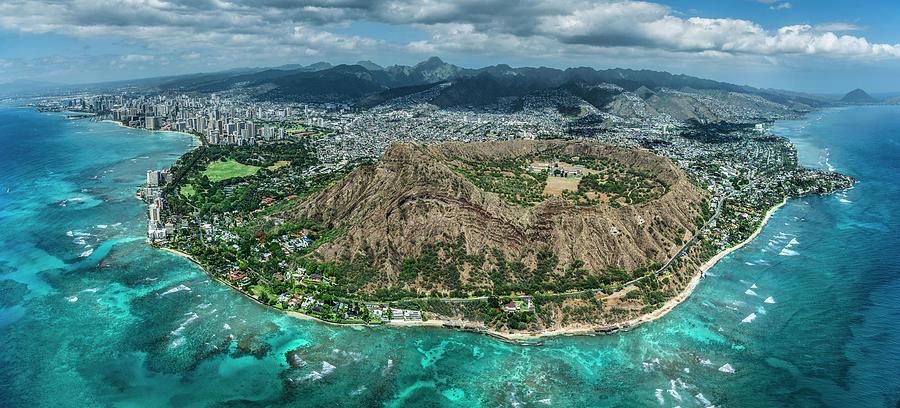 Waikiki Photograph - Diamond Head Overview by Sean Davey