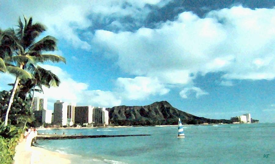 Oahu Digital Art - Diamond Head by Will Borden