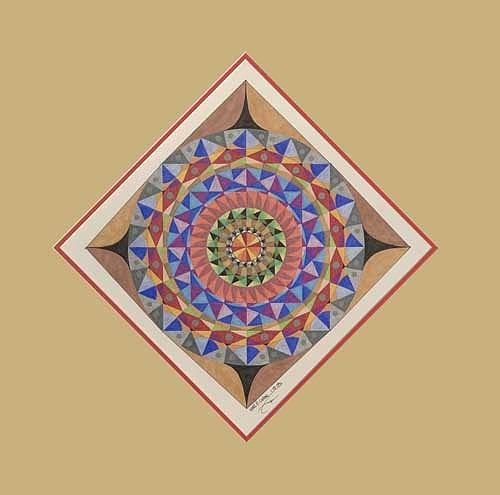 Mandala Painting - Diamond In The Rough by Mark Cohen