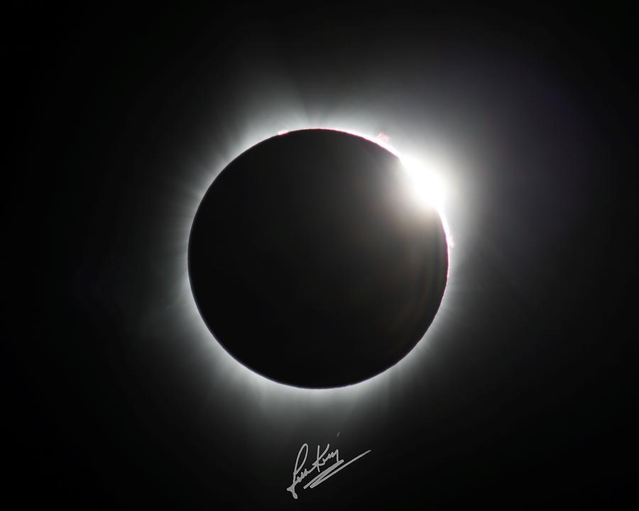 Solar Eclipse Photograph - Diamond Ring Signature Edition by John King