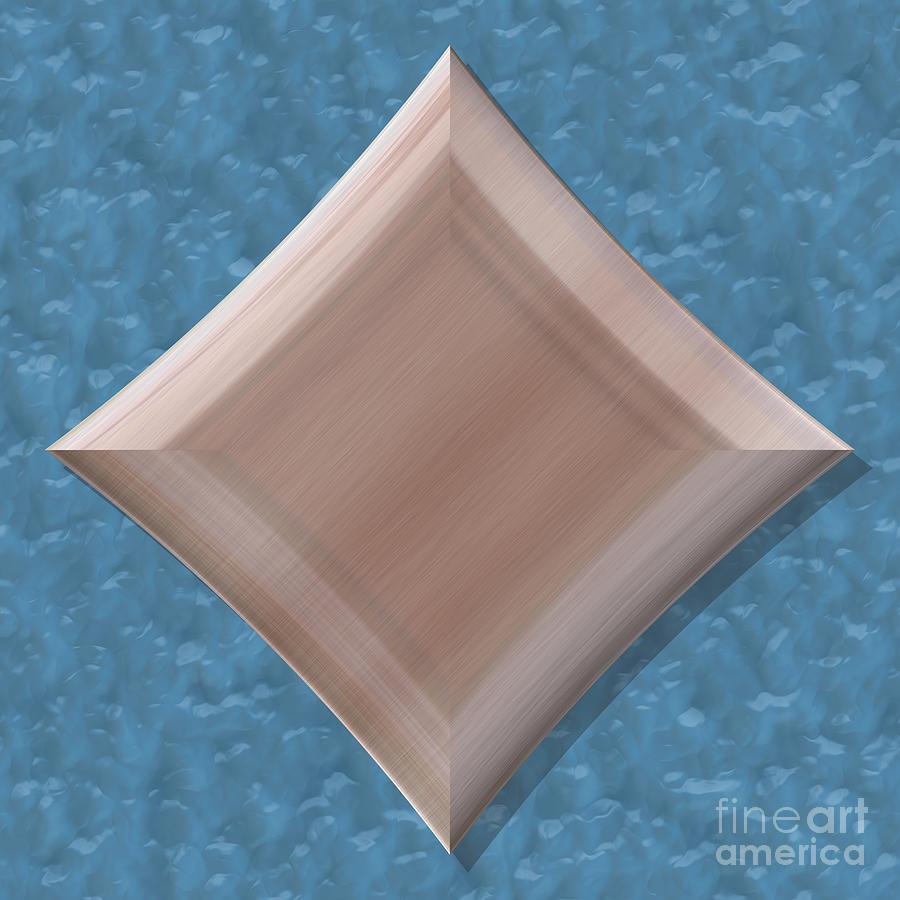 Diamond Shape Frame With Seamless Generated Texture Digital Art