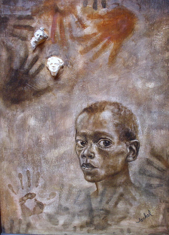 Boy Painting - Diamond Worker by Ixchel Amor