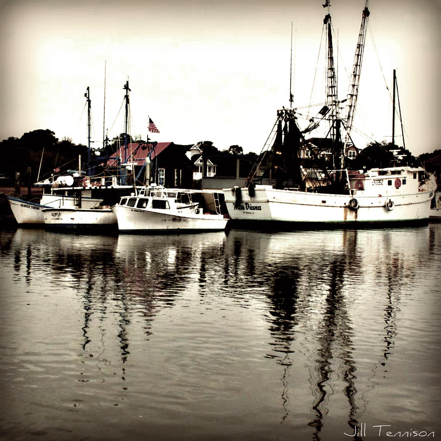 Shem Creek Photograph - Diana And The Shrimps by Jill Tennison