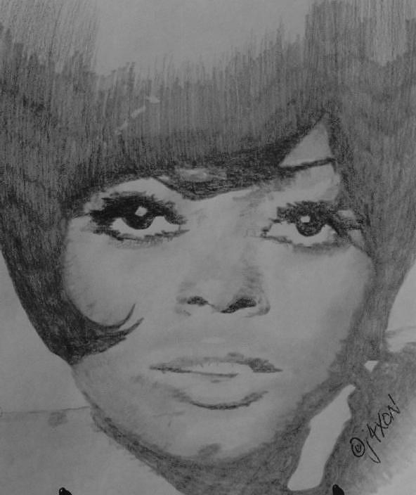 Hitsville Drawing - Diana Ross by B Jaxon