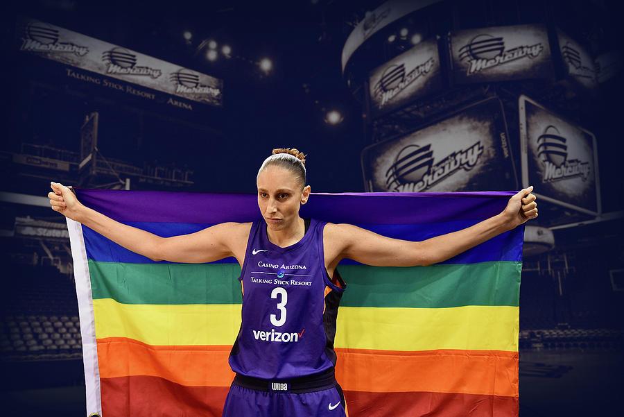 Diana Taurasi Photograph - Diana Taurasi LGBT PRIDE 1 by Devin Millington