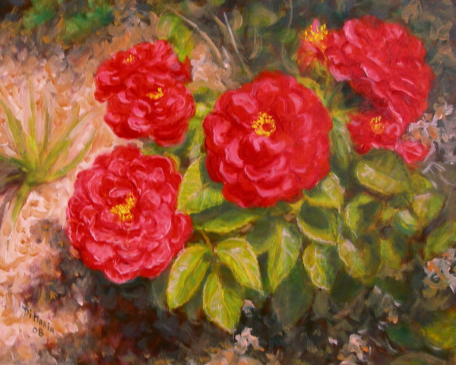 Realism Painting - Dianes Roses by Donelli  DiMaria