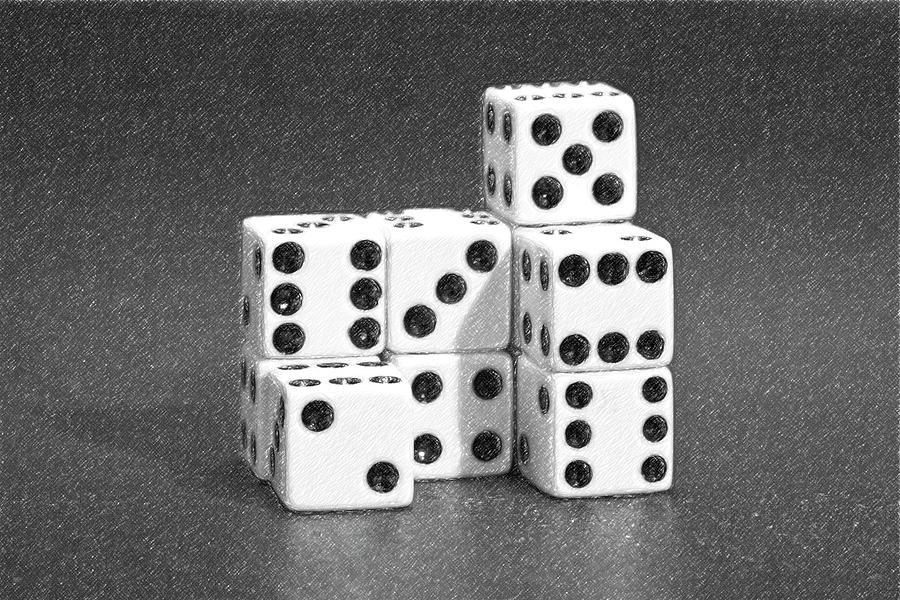 Dice Photograph - Dice Cubes IIi by Tom Mc Nemar