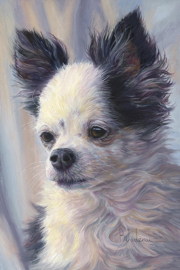 Dog Painting - Dice by Lucie Bilodeau