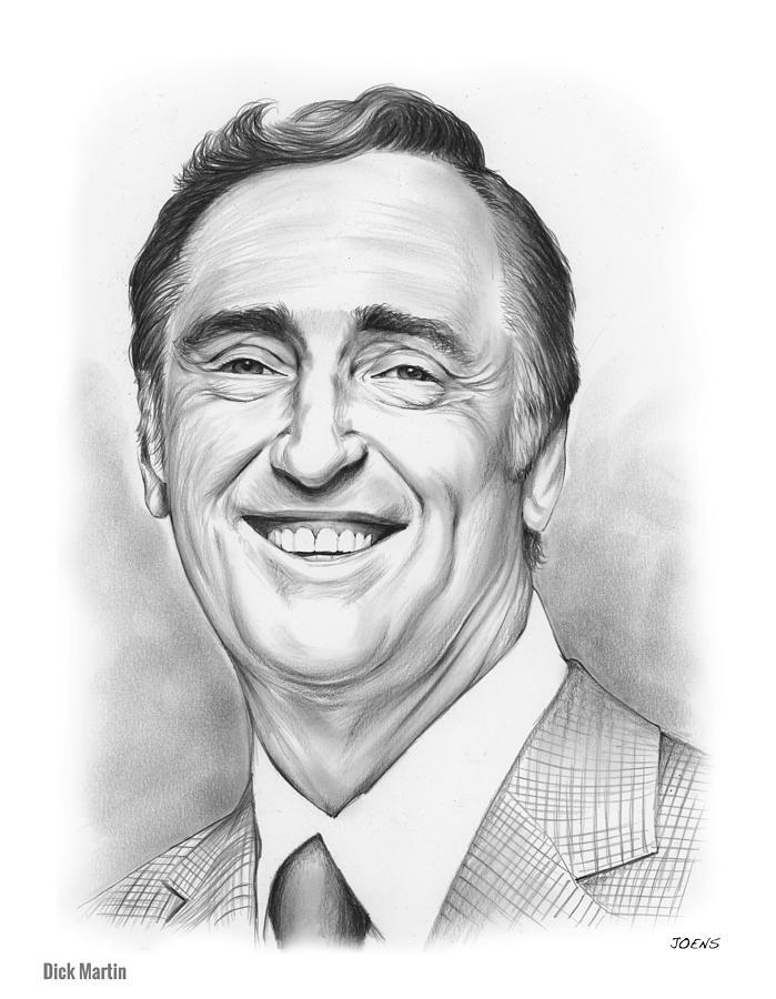 Comedy Drawing - Dick Martin by Greg Joens