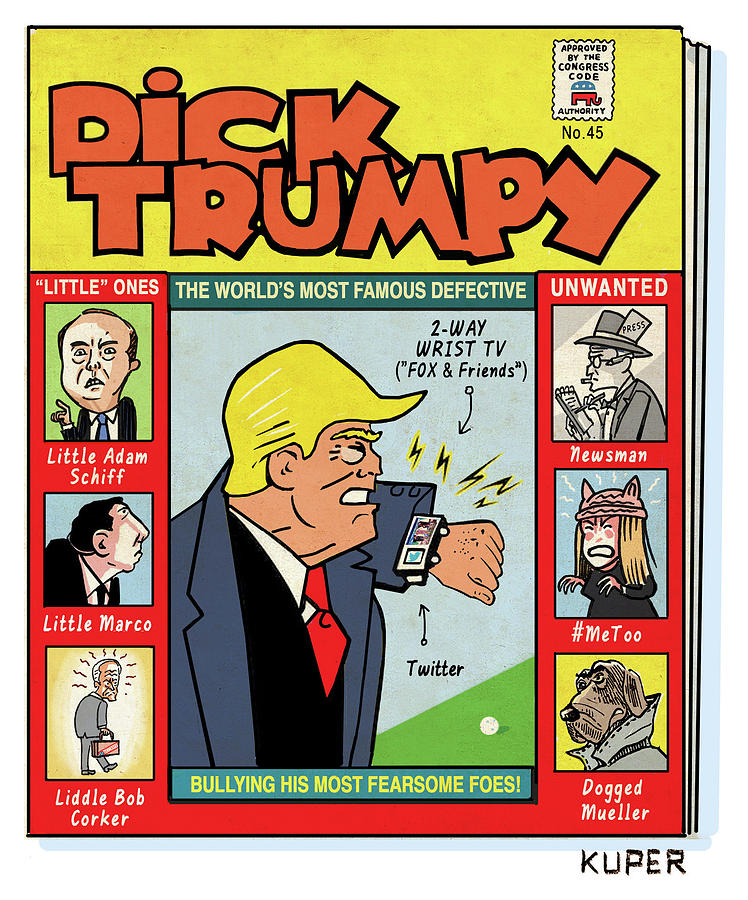 Dick Trumpy Drawing by Peter Kuper