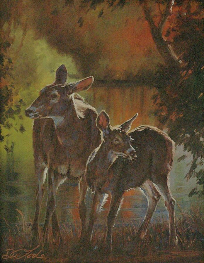 Deer Painting - Did You Hear That by Mia DeLode
