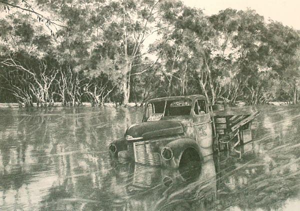 Did You Wind Up The Truck Windows Drawing by Edward Dyas