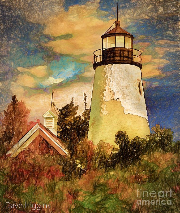 Light House Digital Art - Dice Head ,castine, Maine by Dave Higgins
