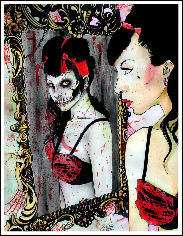 Zombie Mixed Media - Die Die My Darling by Carissa Rose Stevens
