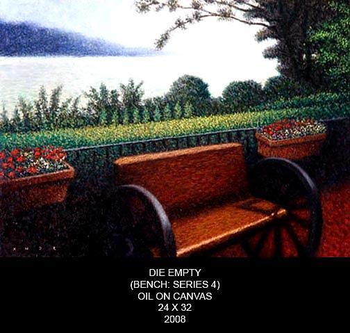 Die Empty Bench Series Painting by Xander Calceta