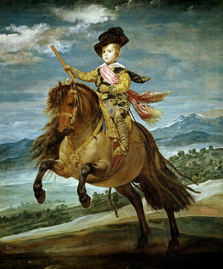 Horse Painting - Diego Velazquez 1599-1660 Prince Baltasar Carlos On Horseback by Diego Velazquez