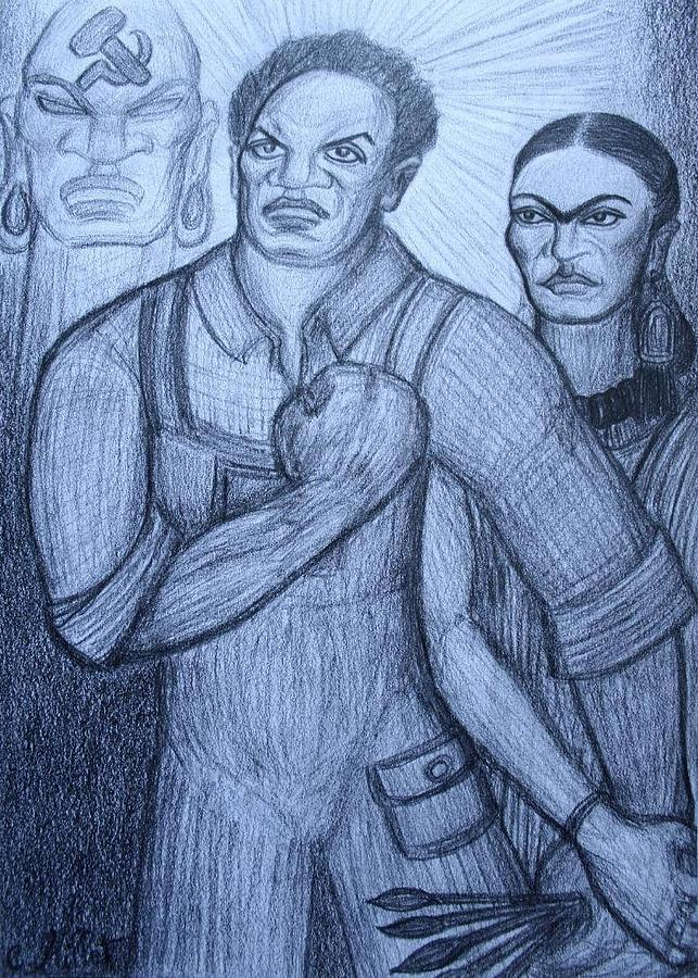 Diego Rivera Drawing - Diegos Inspiration by Cindy MILLET