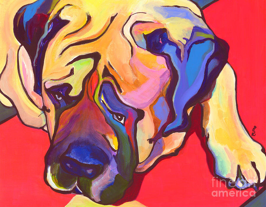 Mastiff Painting - Diesel   by Pat Saunders-White