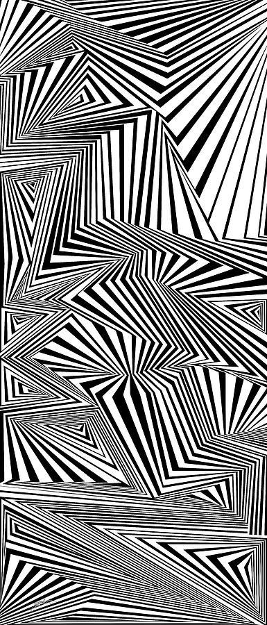 Optical Illusion Painting - Diesel by Douglas Christian Larsen
