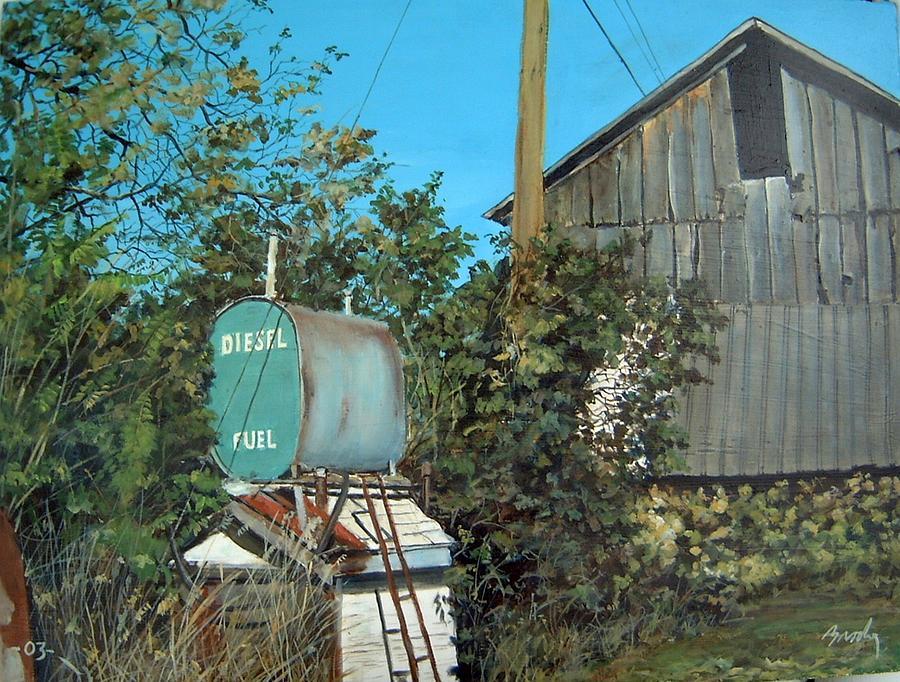 Barn Painting - Diesel Fuel by William Brody