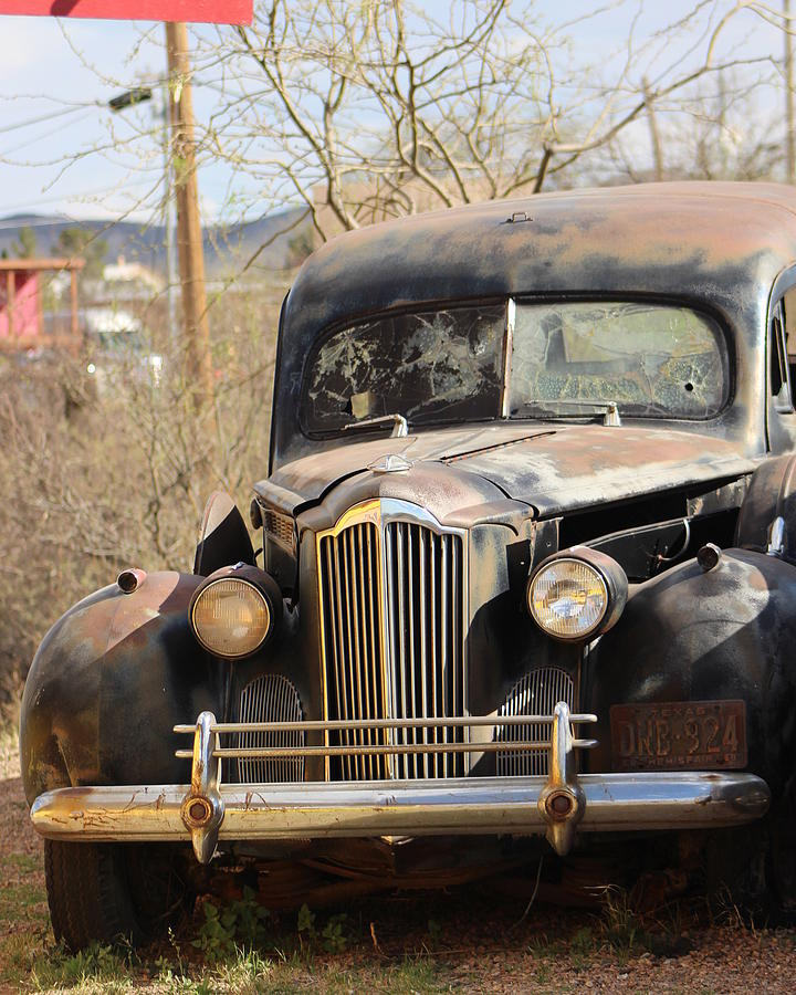 Old West Photograph - Digger O Balls Funeral Pallor Hearse by Colleen Cornelius