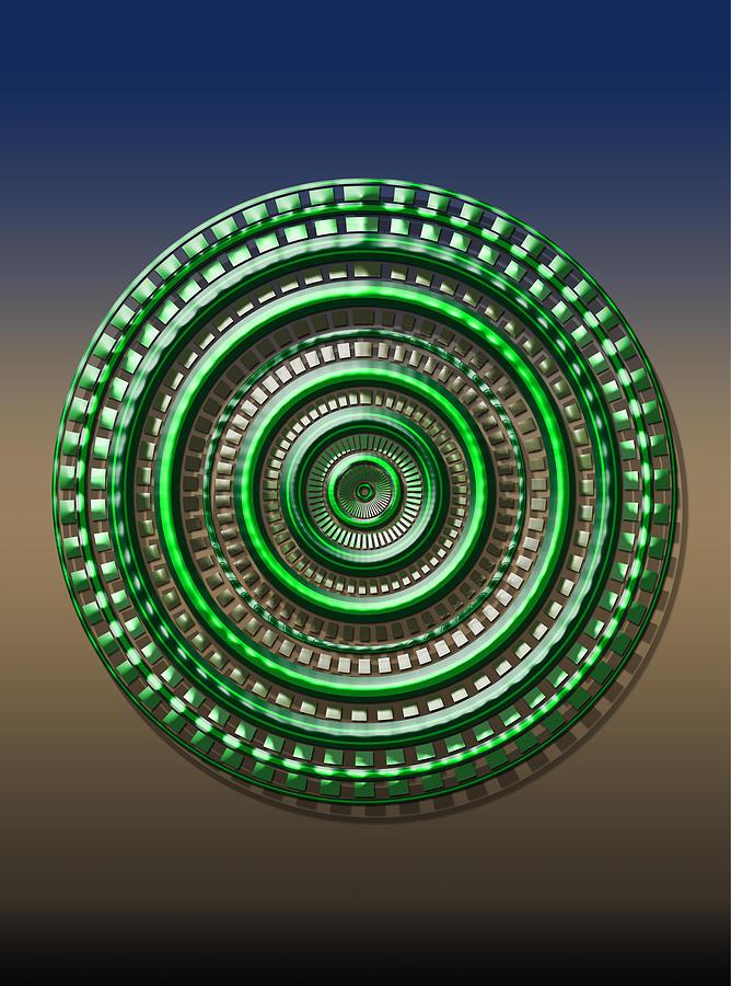Dials Digital Art - Digital Art Dial 3 by David Yocum