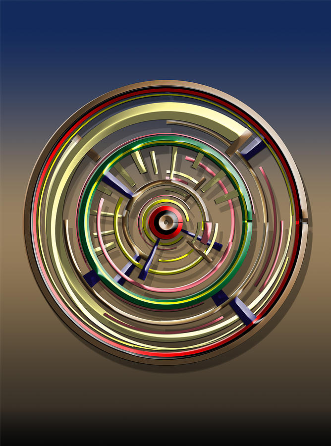 Dials Digital Art - Digital Art Dial 4 by David Yocum