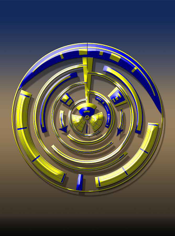 Dials Digital Art - Digital Art Dial 5 by David Yocum