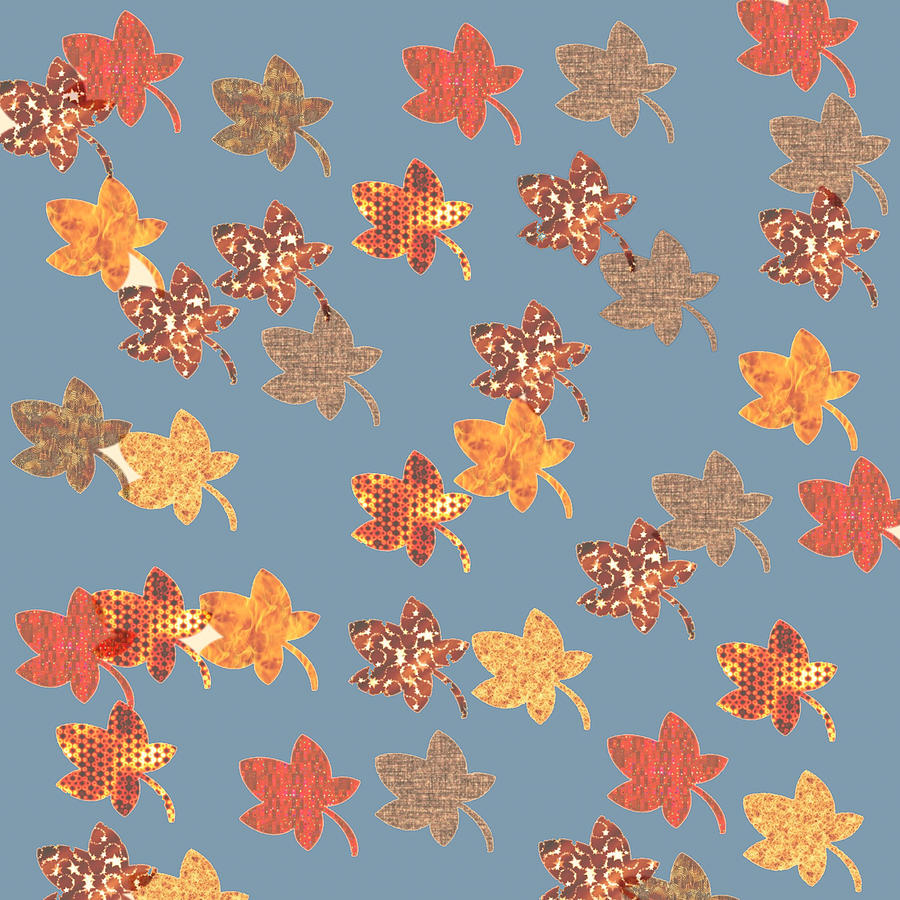 Digital Autumn Leaves 03 by Annette Hadley