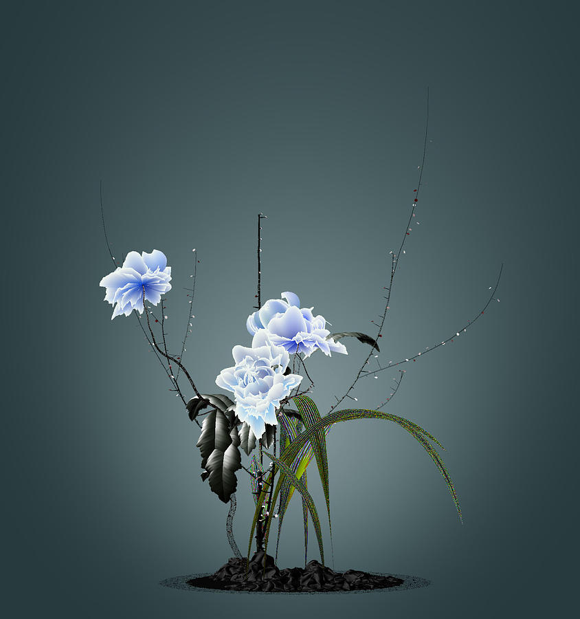 Digital Art - Digital Flower Arrangement by GuoJun Pan