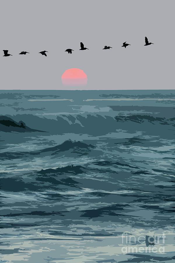 Sun Digital Art - Digital Illustration by Sharon Foelz