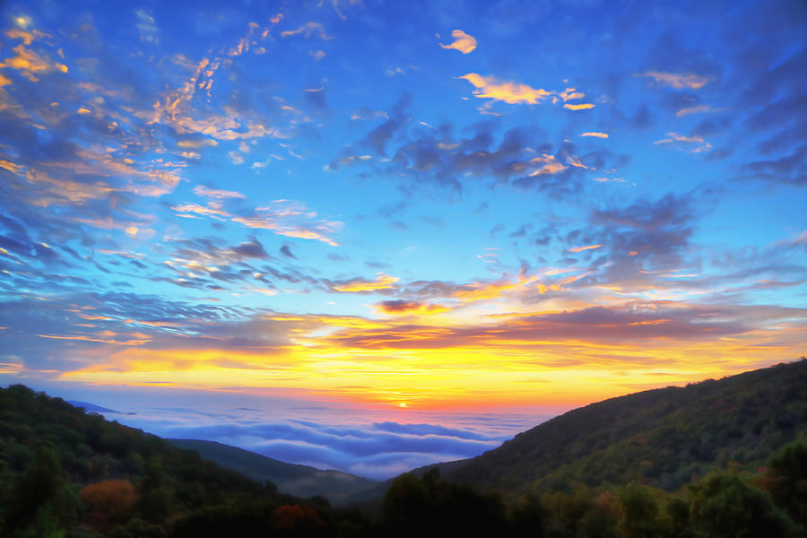 Metro Digital Art - Digital Liquid - Good Morning Virginia by Metro DC Photography